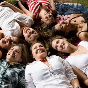 Happy women in circle