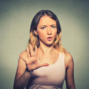 woman arguing