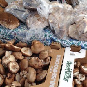 Mushrooms at a farmers market