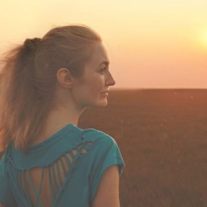 Girl at sunset