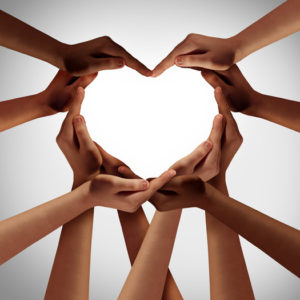 hearts hand women's hands of diversity, black lives matter, black women, circles, community