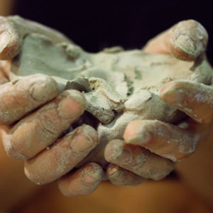 holding clay