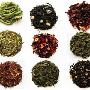 image of nine loose leaf teas