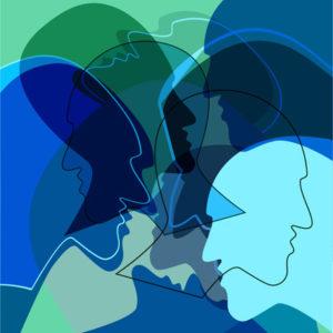 illustration of many heads
