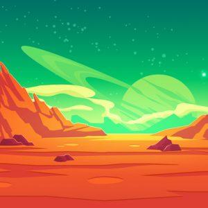 illustration of Mars landscape