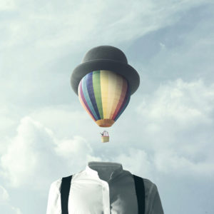 hot air balloon head