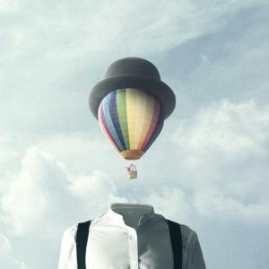 hot air balloon head