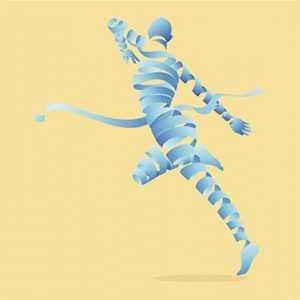 A dancing form made of unravelling ribbons illustrates releasing trapped emotions