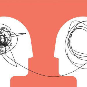 Illustration shows seeking counseling for overcoming shame.