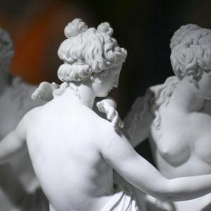 Greek statue of three naked women