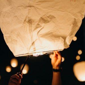floating paper lanterns for mystical phoenix