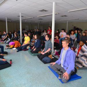 teens meditating