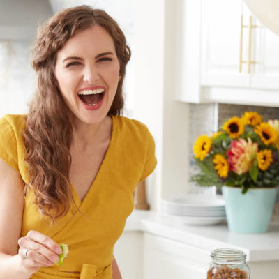 Amy Symington in the kitchen