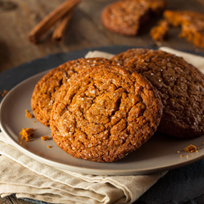 Triple ginger chocolate cookies for healthy dessert
