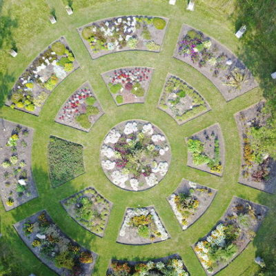 Compassion cell garden view from above