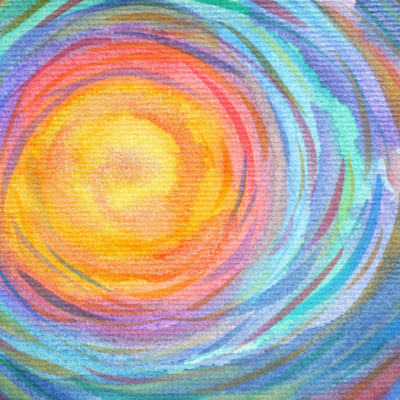 Full circle. Watercolor.