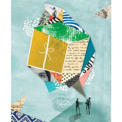 Gift collage illustration