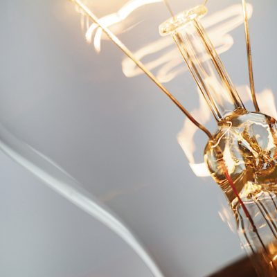 A lightbulb shows the power of being connected to a higher power