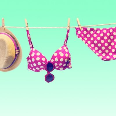 Bikini on clothesline