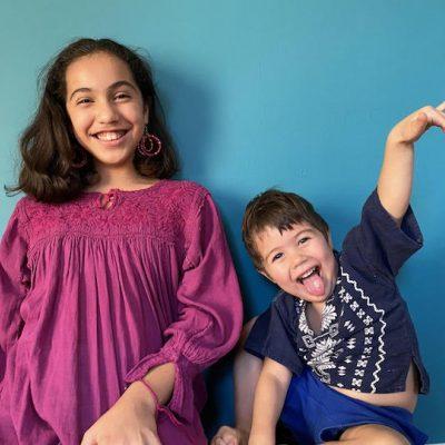 Myra Goodman's grandkids at play