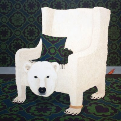 Illustration of a polar bear chair