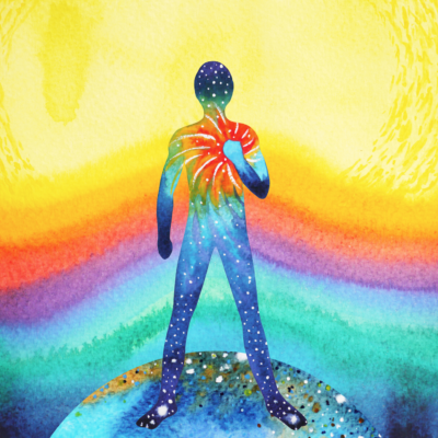 Colorful illustration of person