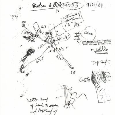 Hand-written reporter's notes