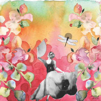 Andrea Bijou's painting The Garden Dance