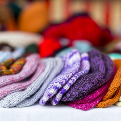 Colorful knitted hats