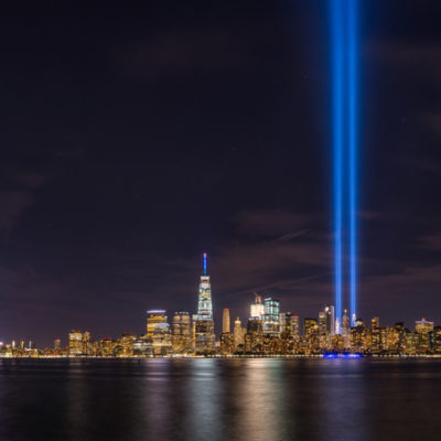Two great beams of light rose from Ground Zero from dusk til 11 pm for 32 days, beginning six months after the attacks.