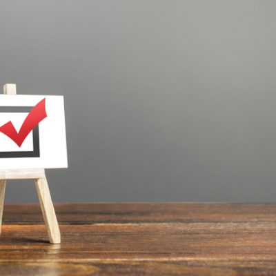 Voting every day in our actions illustrated by checkbox