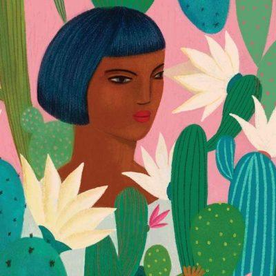 Pink Cactus by Carmen García Gordillo