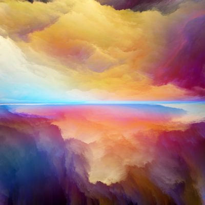 abstract colorful landscape to symbolize holy spirit for non-christians