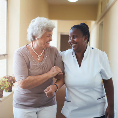 caregiver and woman