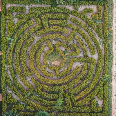 green labyrinth sky view