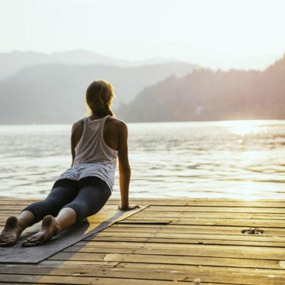 Holistic practice sun salutation for healing grief