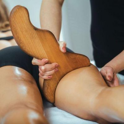 Wood contour massage therapy tool
