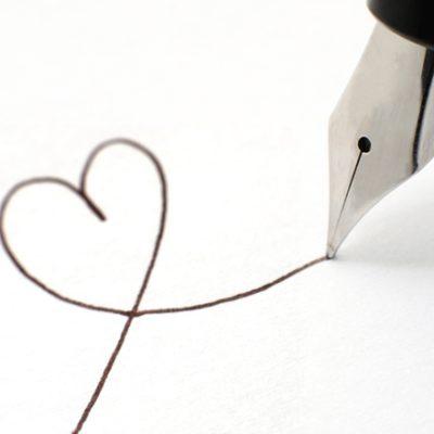 Pen drawing a heart