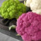 Three colors of cauliflower