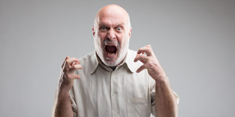 Angry older man