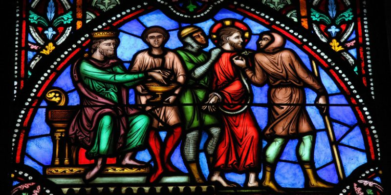 Depiction of Jesus and Pontius PIlate