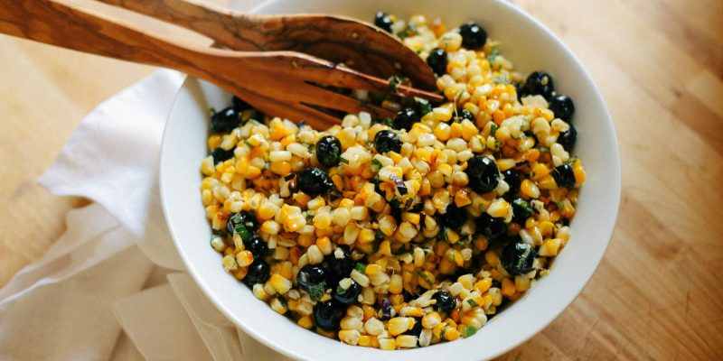 Good Food: Charred Corn and Blueberry Salad, Spirituality & Health