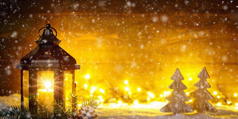 Holiday lantern shows spirituality and Christmas