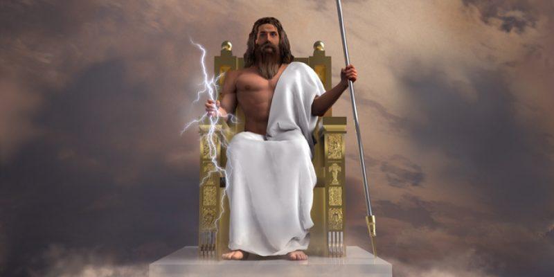 Old-school depiction of God