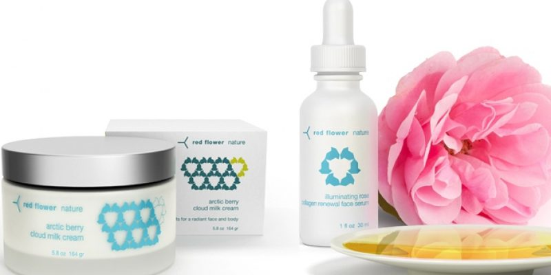 Red flower body products