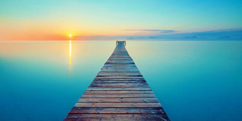 Sunrise over a calm sea