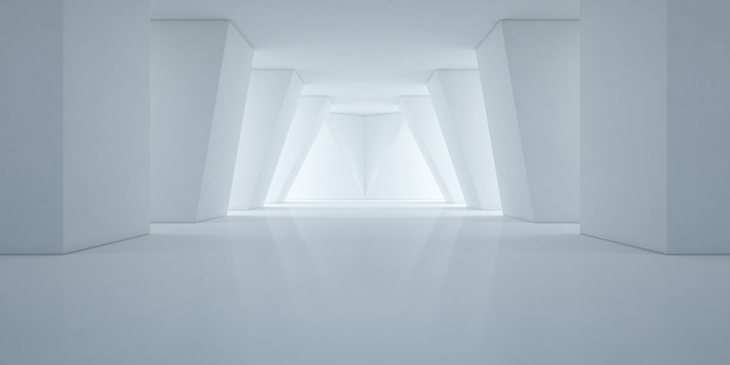 Abstract white room