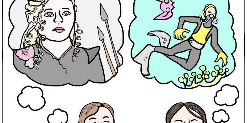 People fantasize about a Games of Thrones-type world