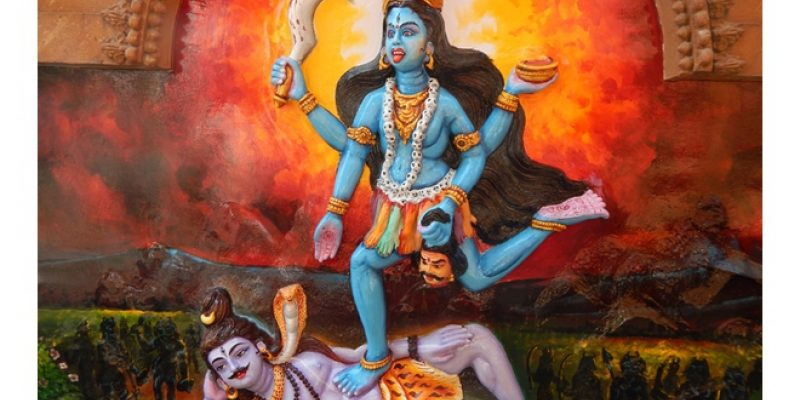 illustration of goddess kali