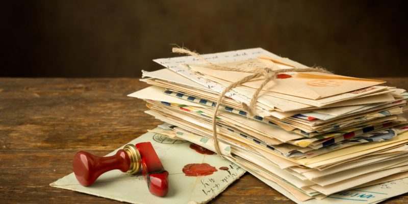 Stack of hand-written letters